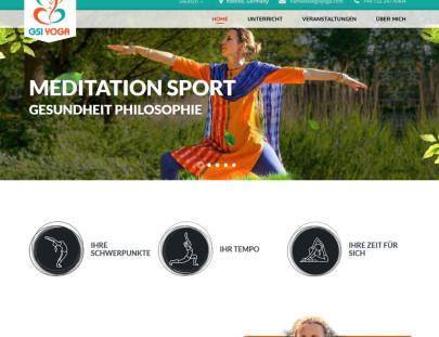 Meditation Sports Website